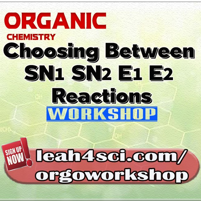Join me in a FREE #Orgo Workshop on Choosing between SN1 SN2 E1 E2 Rxns this Sunday (Nov 12). Reserve your spot now! #premed #livewebinar <br>http://pic.twitter.com/o9hE0ufS8j