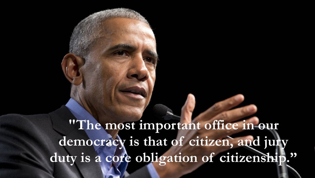 After reporting to #jury duty in Chicago, #Obama had this to say: <br>http://pic.twitter.com/SmAdK5vXps