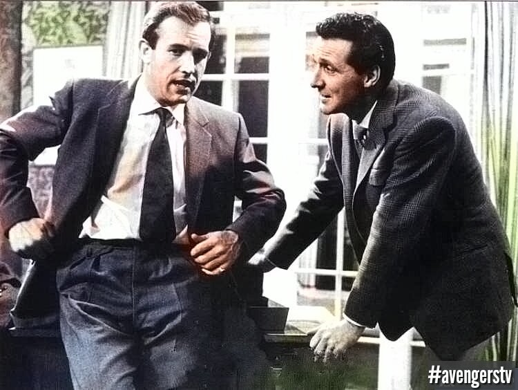 #IanHendry as Doctor David Keel &amp; #PatrickMacnee as John #Steed. &quot;Two against the underworld&quot; - #TheAvengers Series 1. #ThrowbackThursday #Tbt<br>http://pic.twitter.com/qEHtIvCgdF
