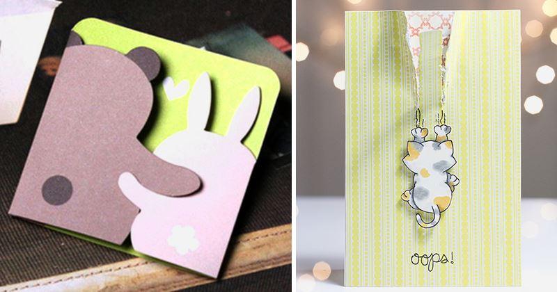 Маленькие открытки для друзей своими руками, открытки букетом