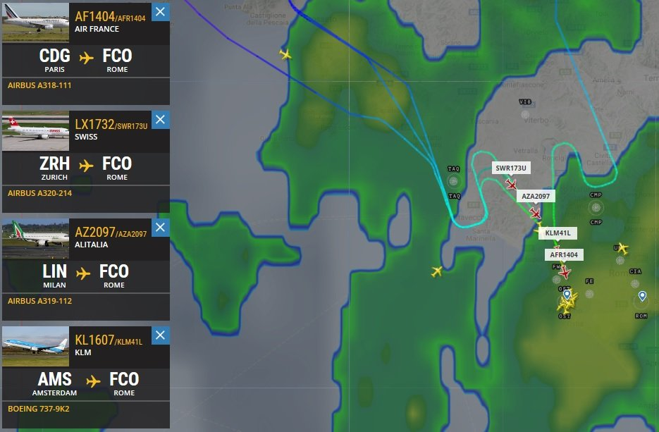 AirRobats on Twitter Rome Fiumicino Aerodrome arrivals regulated