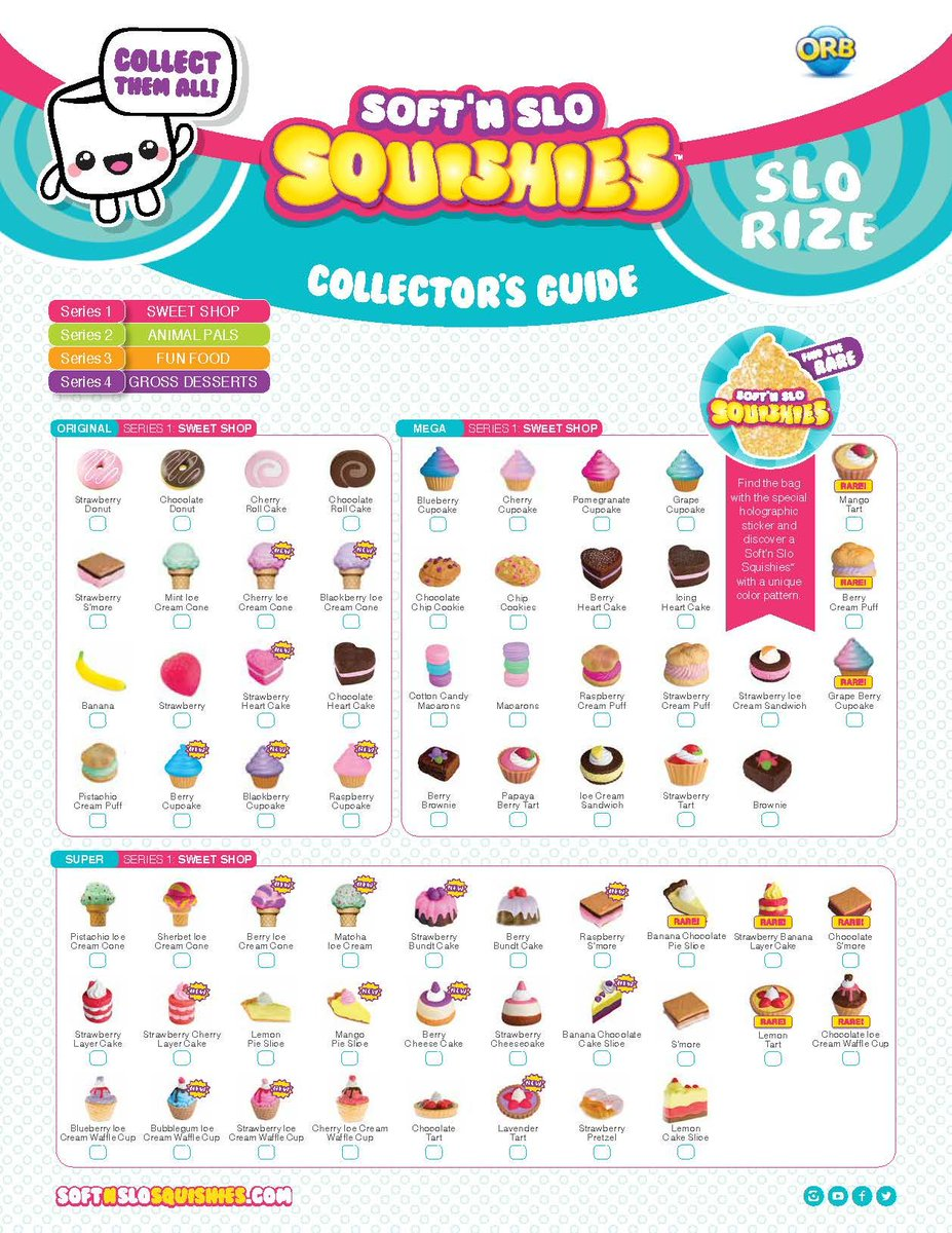 Squishy Mushy Checklist : Soft n Slo Squishies (@SnSSquishies) Twitter