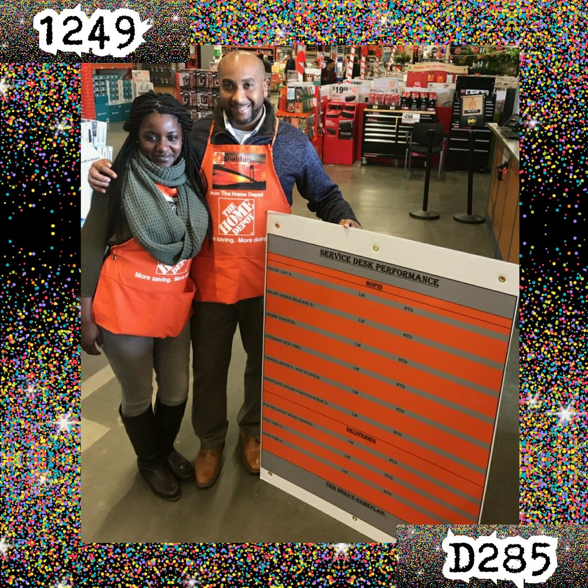 Always Striving To Improve The Online Experience At Home Depot Store 1249 Receiving Their Service Desk Performance Board BelloMobellopictwitter