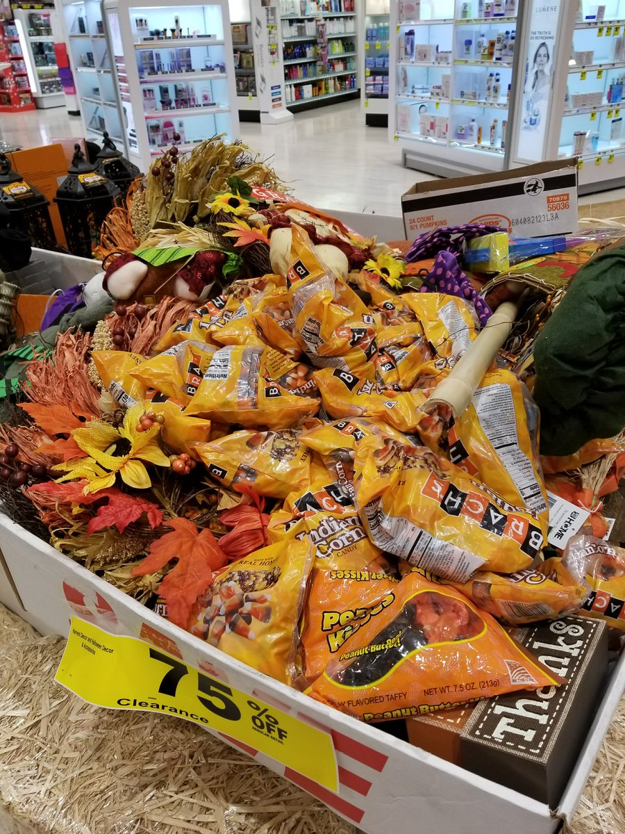 trevor donovan on twitter only the gross after halloween candy is left at rite aid i call this the aisle of misfit halloween candy
