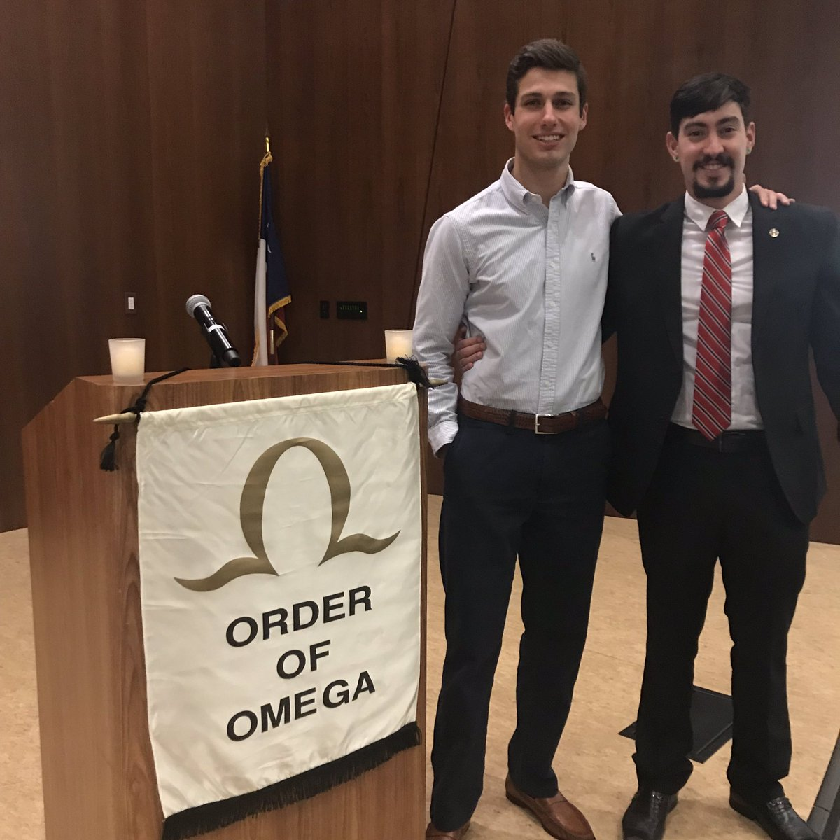 Congratulations To Our Brothers Logan And Pedro For Getting Initiated Into The Order Of Omega An Greek Honor Organization Dedication Uphold High