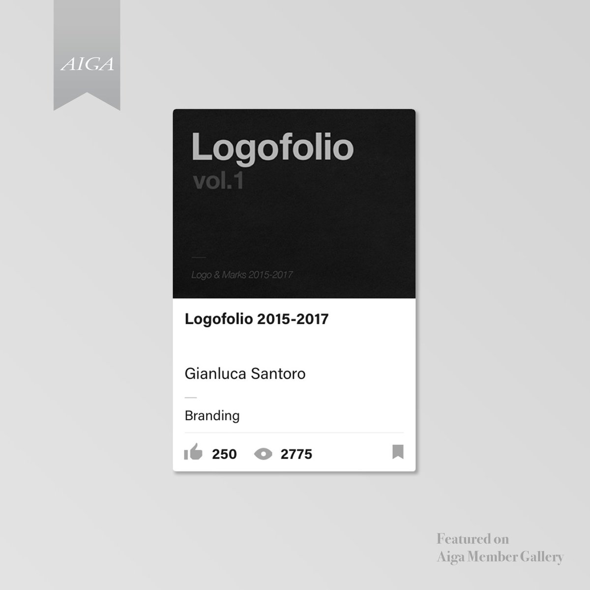My last project &quot;Logofolio vol.1&quot; has been featured in the #aigadesign gallery of #behance. Here the full project:  https:// goo.gl/nocmia  &nbsp;  <br>http://pic.twitter.com/AXONAGaFea