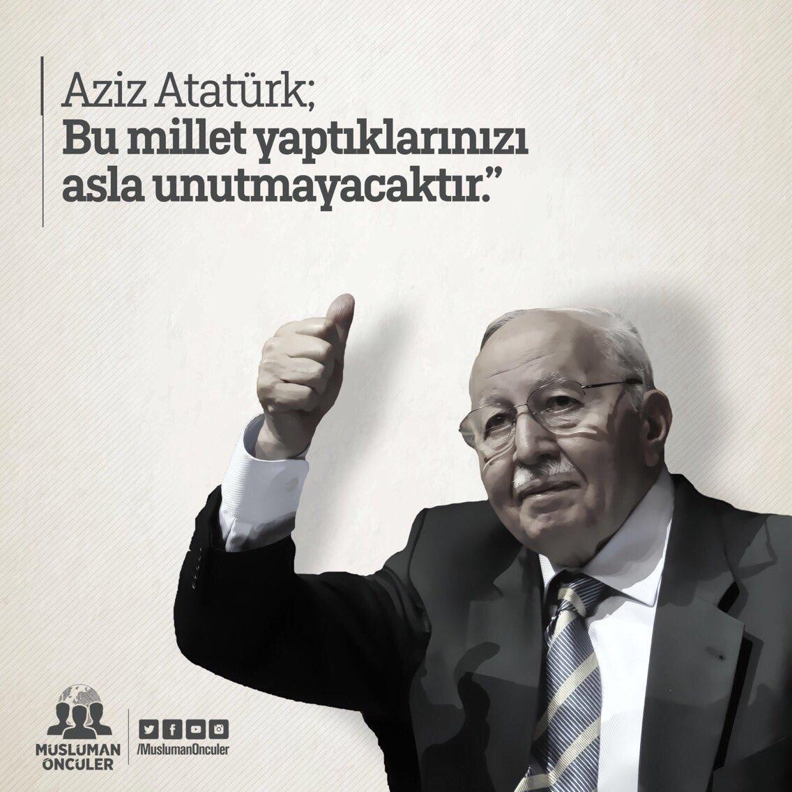 RT @erbakanarsivi: Aziz Atatürk; Bu millet yaptıklarınızı asla unutmayacaktır.  #10Kasım #MustafaKemalAtaturk https://t.co/Lc12zpKMX7