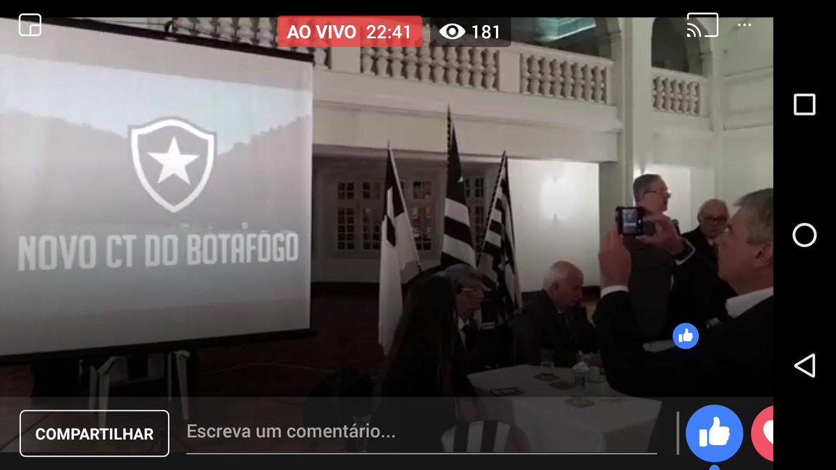 A Rádio Botafogo vai transmitindo ao vivo e exclusivo o momento histórico da assinatura do novo CT. Acompanhe em http://www.facebook.com/radiobotafogo  #NovoCT #ExclusivoRadioBotafogopic.twitter.com/lBRDOODwPE