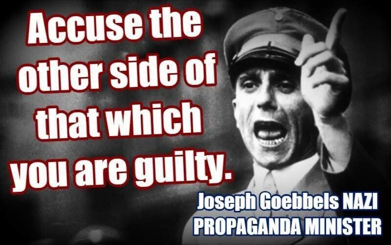 Image result for goebbels accuse your enemy