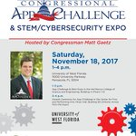 DEFENSEWERX's STEM Outreach will have a booth at the App Challenge & STEM/Cybersecurity Expo on Saturday, 18 Nov 2017, 1-4 pm.  #stem #cybersecurity #innovation @UWF @DEFENSEWERX   https://t.co/QpbWN02bfP