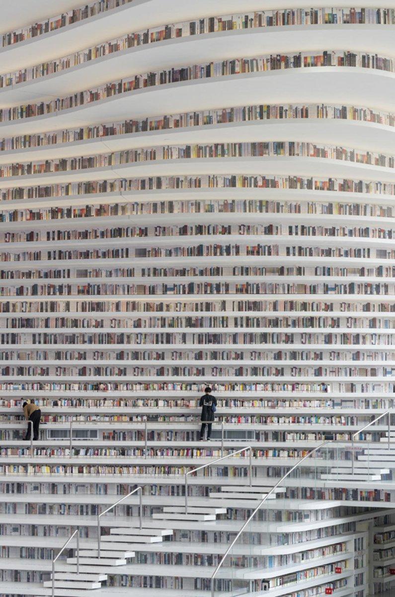 中国の天津市にできた図書館が美しすぎてヤバい!!