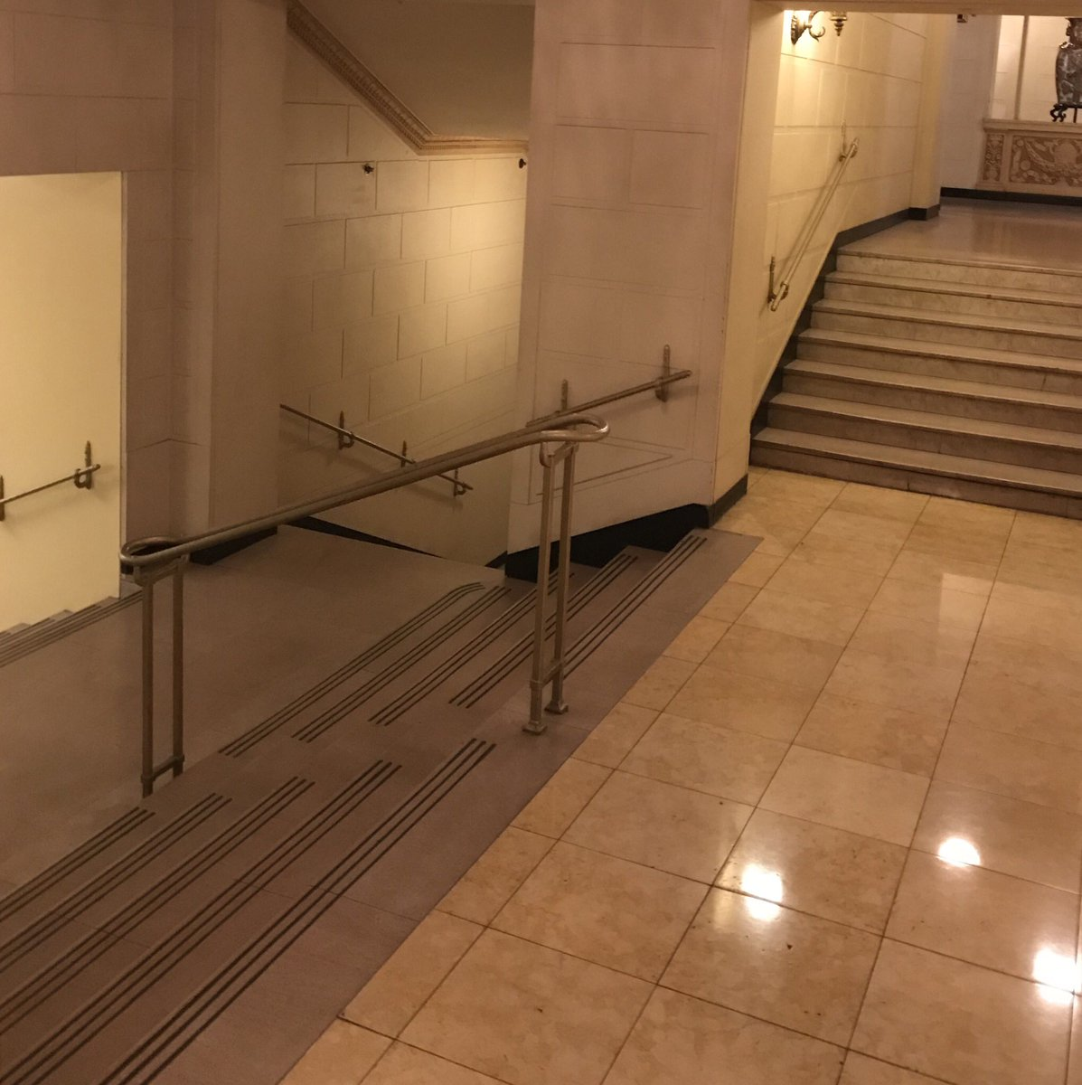 Jacques haba on twitter whats happening you tell me twitter smooth marble tile hallways with multiple stairwells the landing has stairways going down with options doublecrazyfo Images