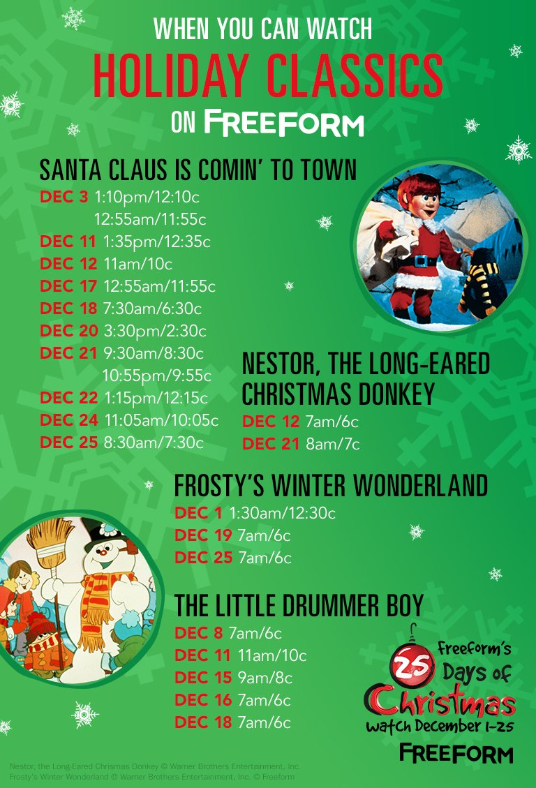 25 days of christmas on twitter weve got all of your favorite holiday classics 25daysofchristmas
