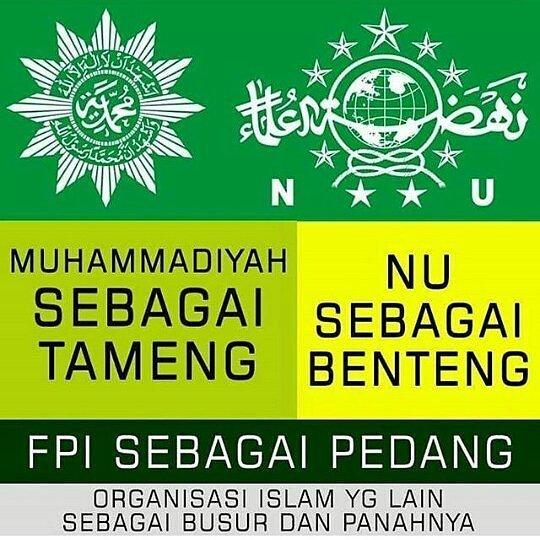 Dani Twitter ನಲ ಲ Nu Muhammadiyah Fpi Dn Ormas Islam Lain