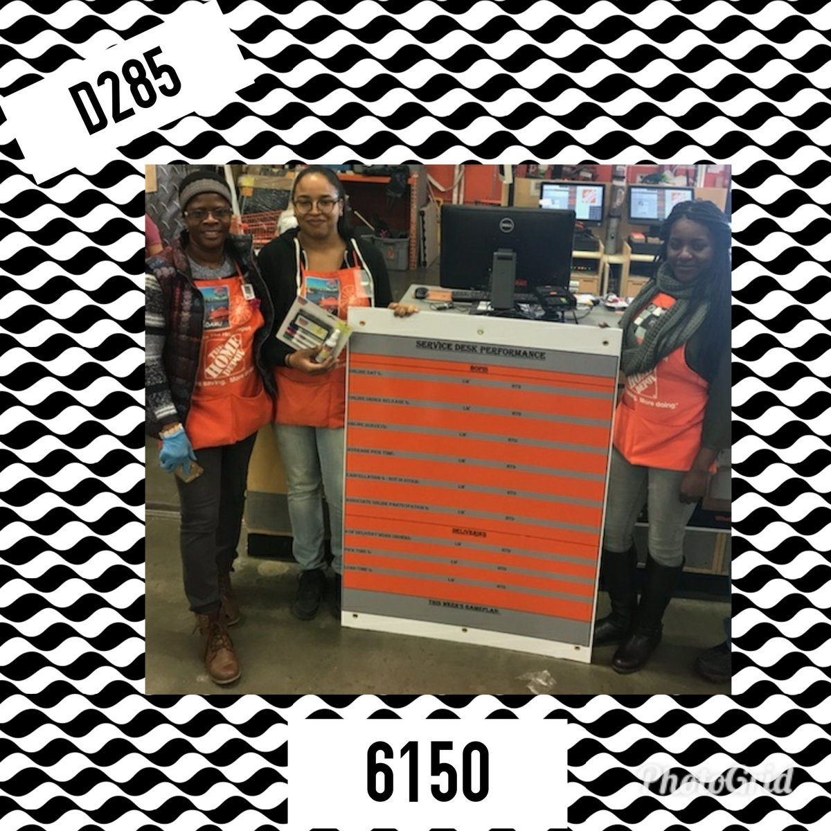 Always Striving To Improve The Online Experience At Home Depot Store 6150 Receiving Their Service Desk Performance Board BelloMobellopictwitter