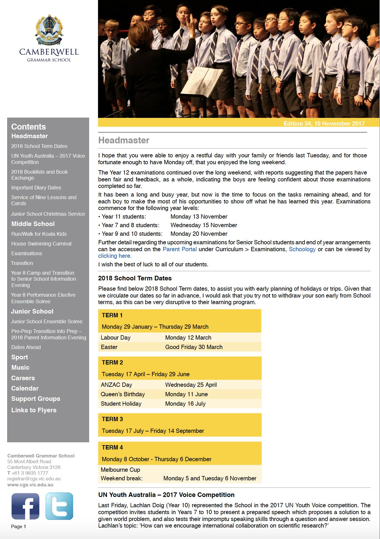 Camberwell Grammar School On Twitter Our Weekly Bulletin Is Now Available Website Tco IHRT70VycA