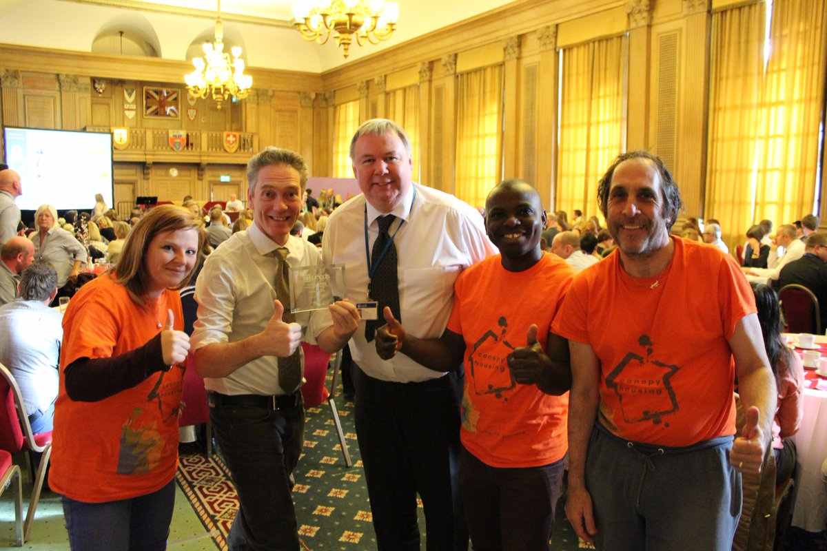 Canopy Housing Accepting The Leeds City Council Partner Of Year Award 2017 A BIG THANK YOU To All Our Volunteers And Supporterspictwitter