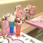 香港にて開催中の期間限定ピスケ&うさぎポップアップカフェの写真送っていただきました💡グッズコーナーも…