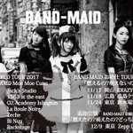 【NEWS】SOLD OUTとなっておりました11/24(金)開催の「BAND-MAID お給仕TO…