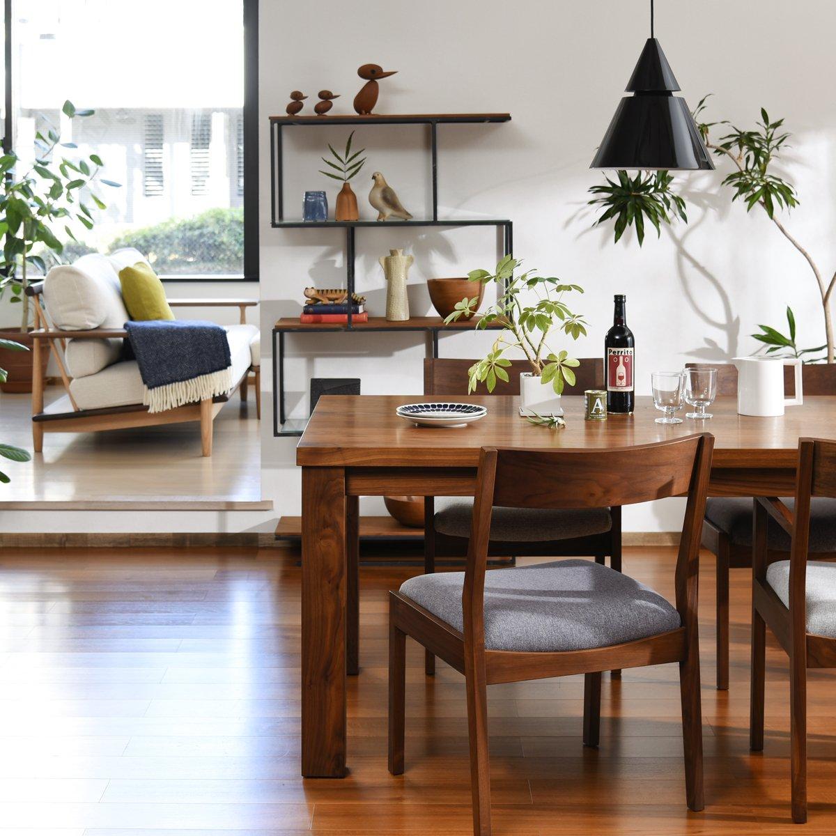 """brunch_info on twitter: """"ウォールナット材の家具で作る上質で素敵な"""