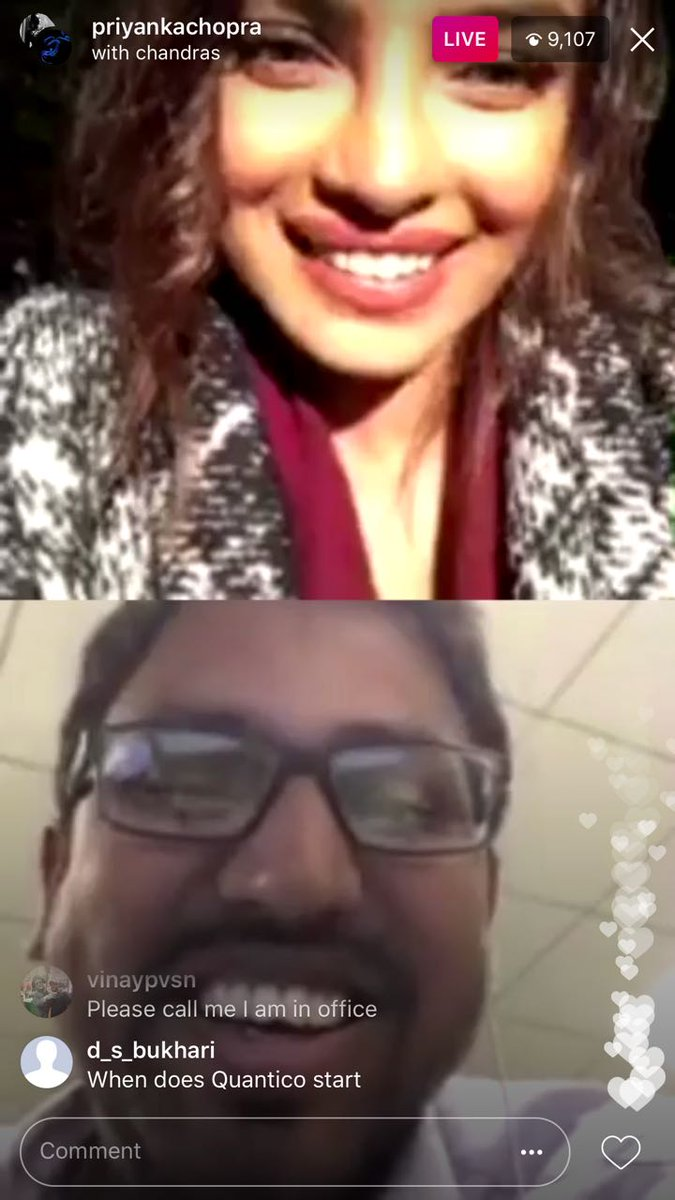 RT @TeamPriyanka: Such excitement on their faces! A LIVE to remember for a long time 😅👏🏼 #PCs20MillionInstaFam https://t.co/aggZHZiZEK