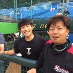 松永投手とチェン投手。野手からストレート以外、投げるなよ!と言われ、「私、日本語分かりません」と返事…