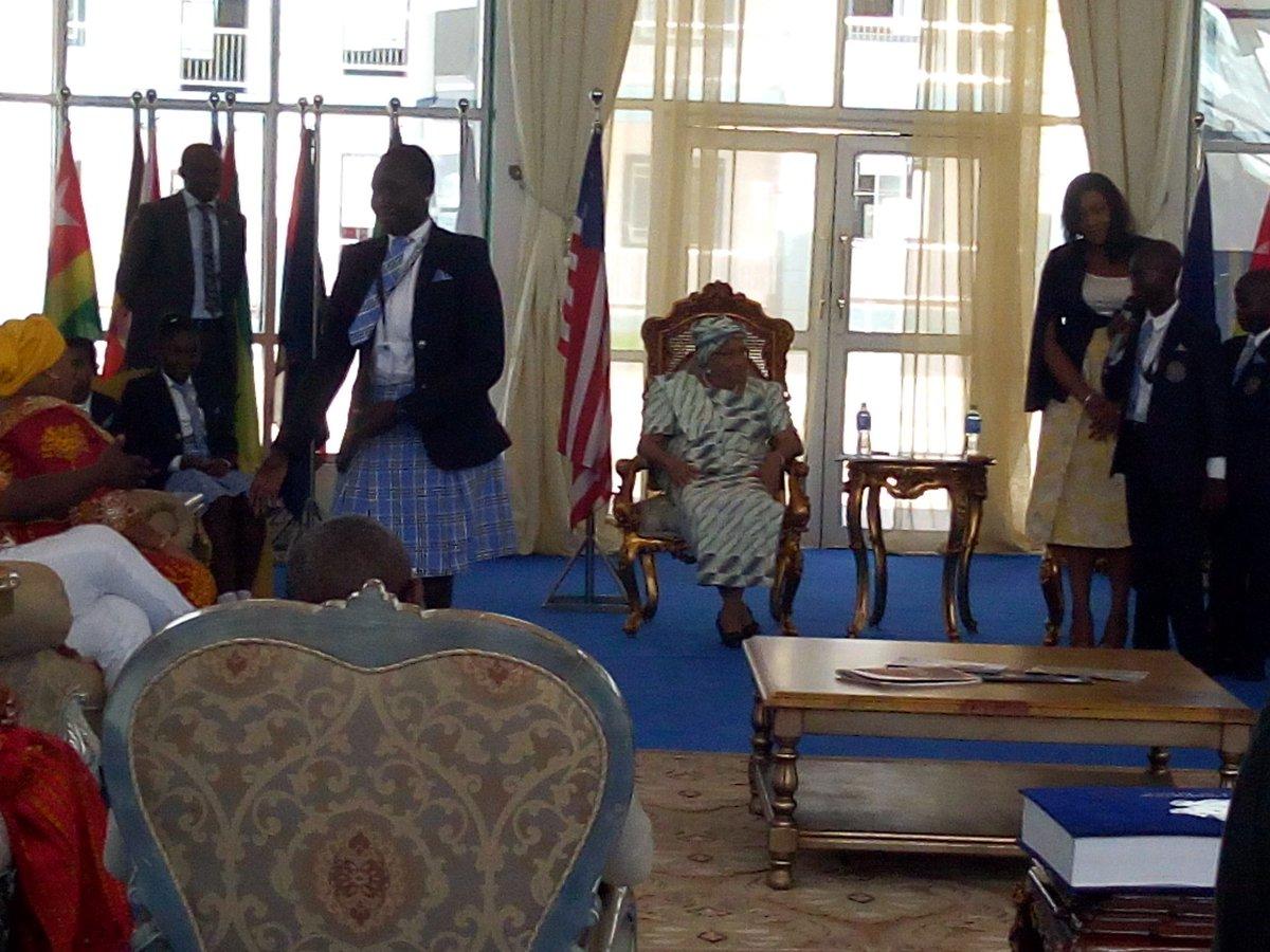 See highlights of Liberian President Ellen Johnson Sirleaf's visit to Imo State on Friday, November 10, 2017: