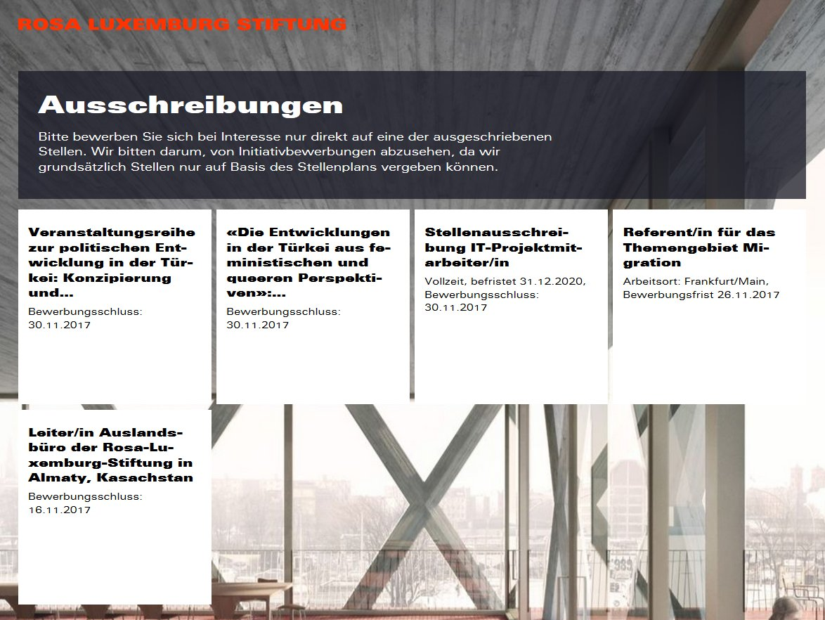 Rosa Luxemburg Stiftung On Twitter Aktuelle Ausschreibungen Https