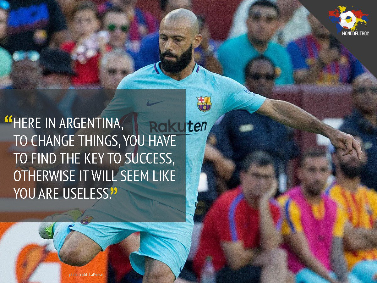 Javier #Mascherano&#39;s words to La Nación explain quite well the Argentinian football madness.  <br>http://pic.twitter.com/TBnk3KFWP7