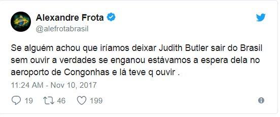 A Judith Butler foi PERSEGUIDA no aeroporto de Congonhas: https://t.co/A6ksrayayy