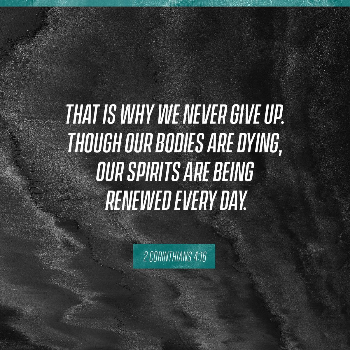 "Bible Quotes About Not Giving Up Daily Bible Verse On Twitter ""that Is Why We Never Give Up ."
