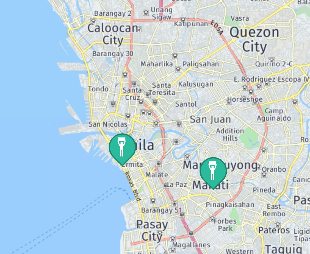 How To Get To The US Embassy Directions Routes Maps Manila Hotels - Us embassy manila map