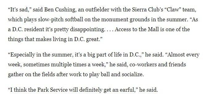 The Sierra Club Softball Team Isnt Having It Scorg 2yQjt0j Washingtonpost Quotes Our Laurenlandtree Bmcushingpictwitter NSYu68O88m