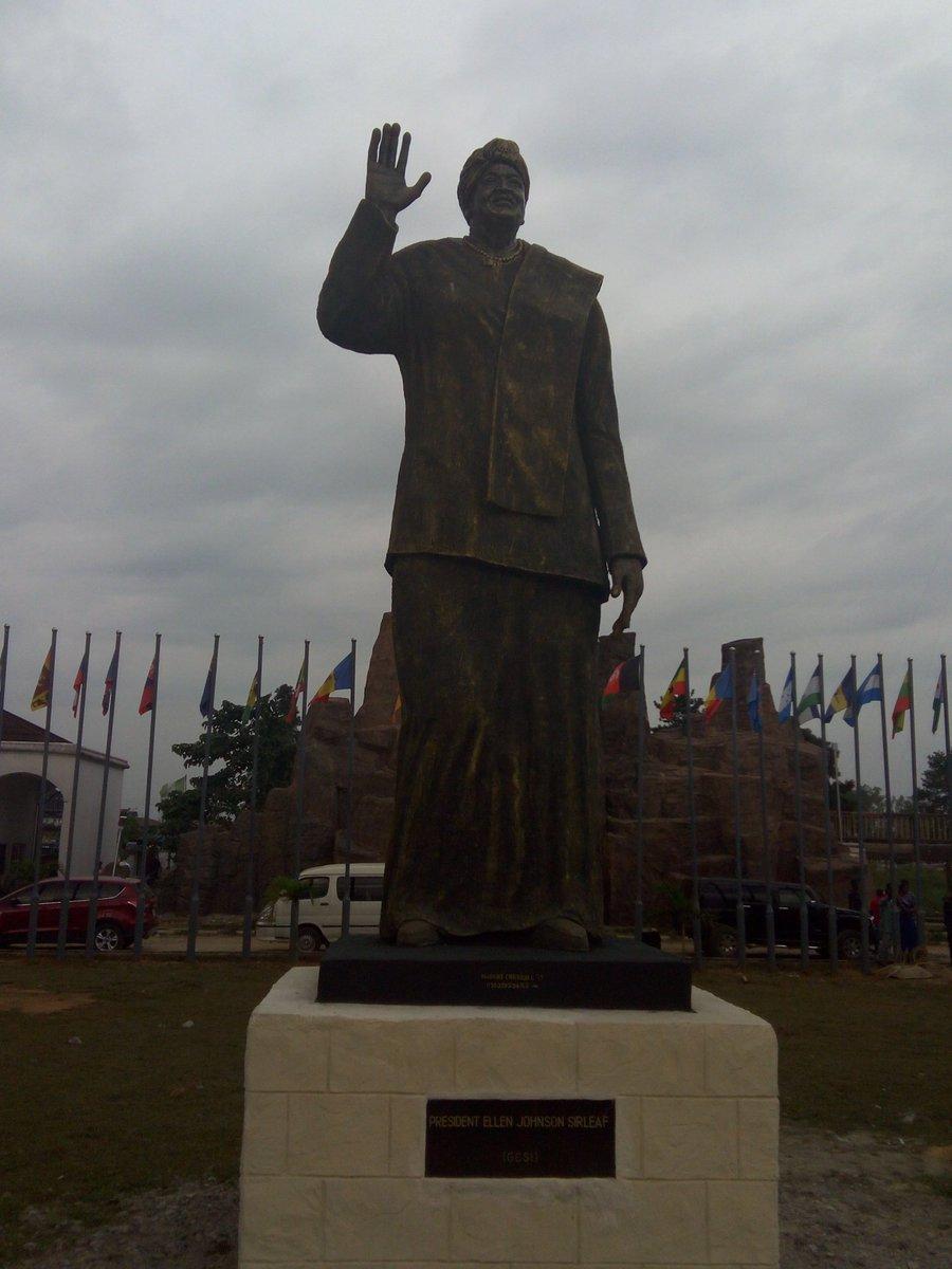 Governor Rochas Okorocha of Imo State has unveiled the giant multimillion Naira statute of the Liberian president, Mrs Ellen Johnson Sirleaf.