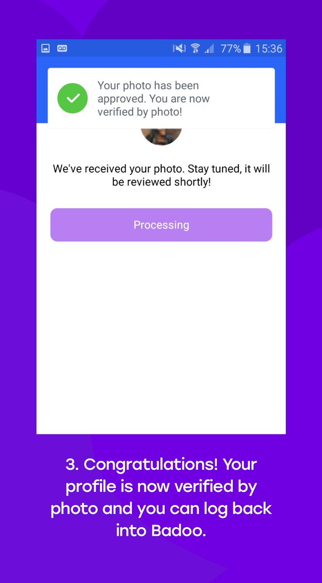 Badoo verification not working | Peatix