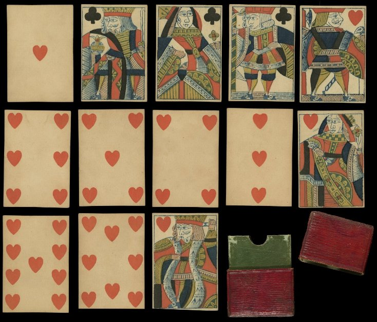 #Woodblock printing is well-suited to #playingcards, as in this 1812 English deck.  http:// bit.ly/2zqVt3q  &nbsp;  <br>http://pic.twitter.com/glWLoBJ6eD