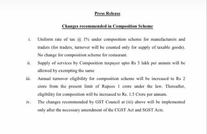 Changes in Composition Scheme