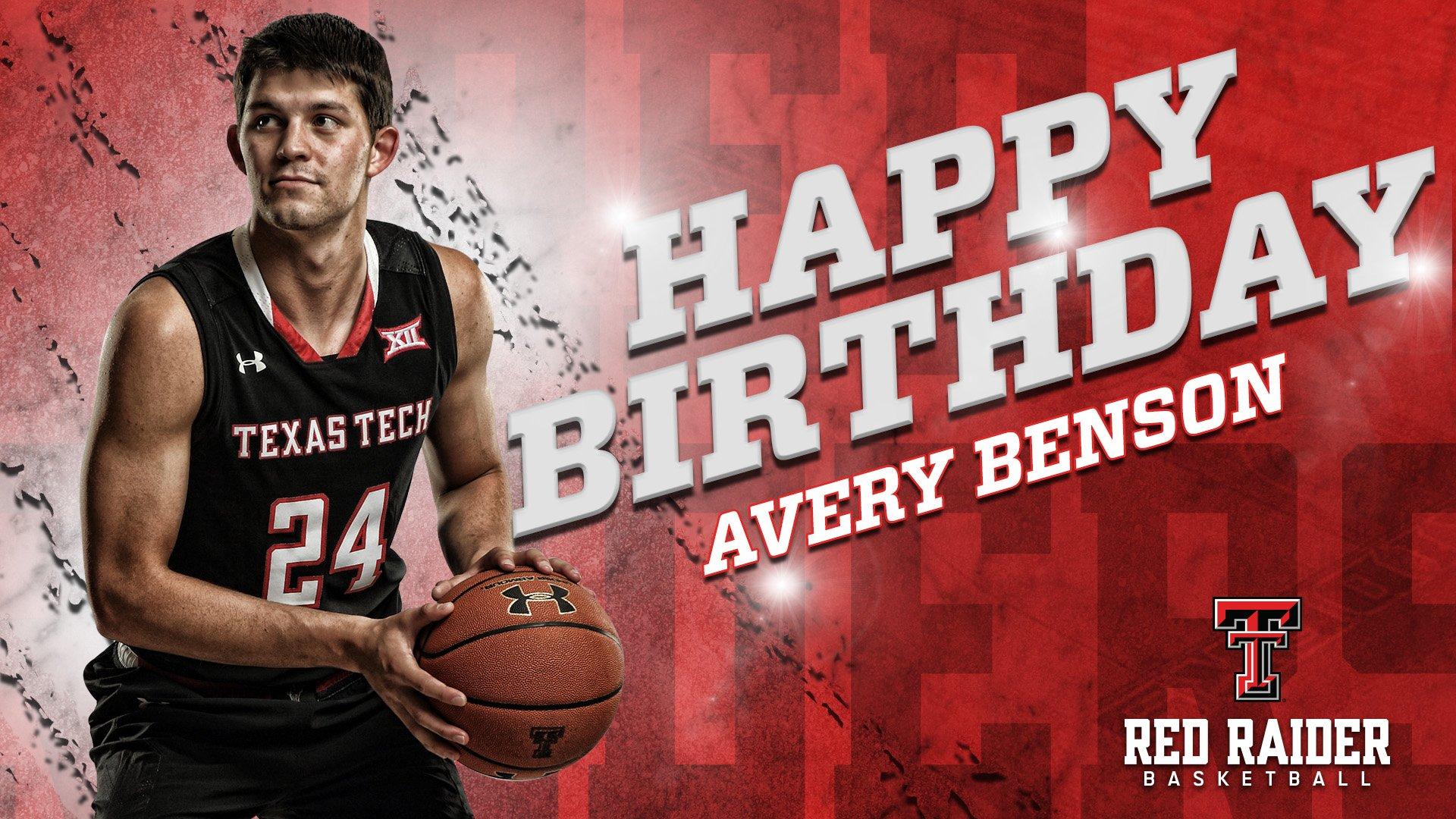 Avery Benson Texas Tech Red Raiders Final Four Basketball Jersey - Red