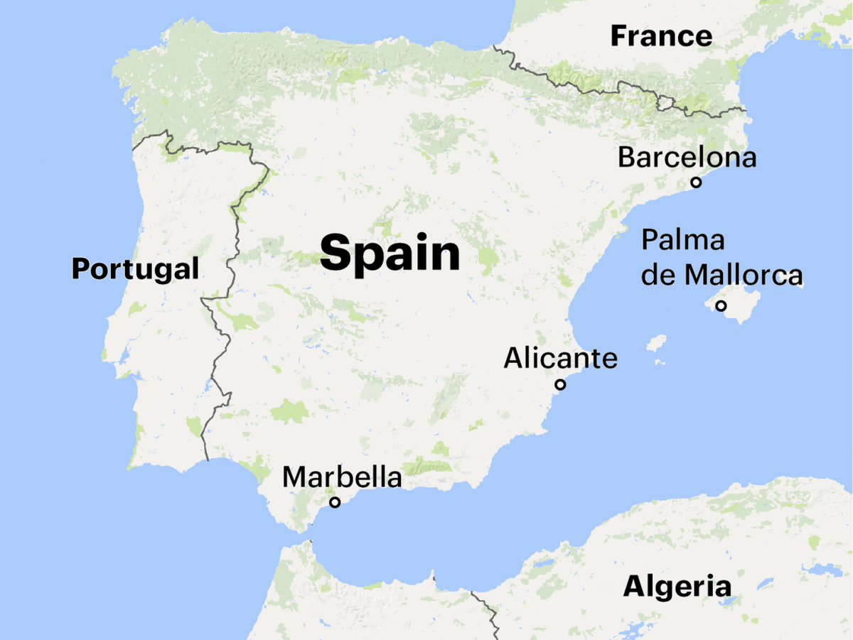 Marbella Map Of Spain.Propublica On Twitter 5 In 1996 Petrov Moved To A Resort Town In