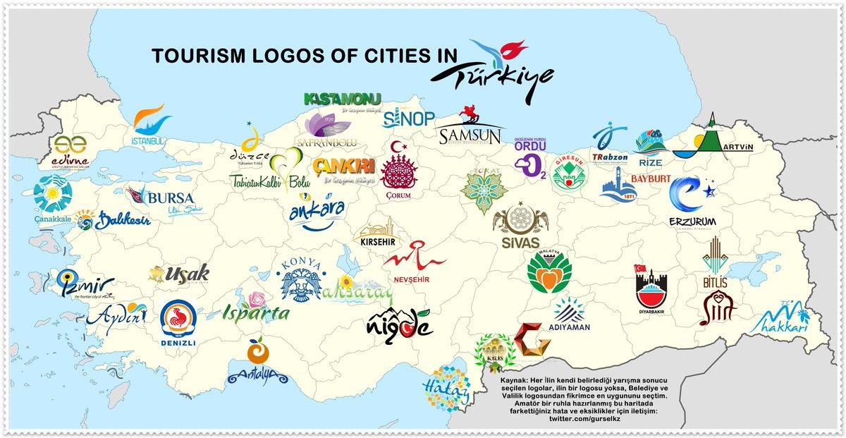Gursel KIZILASLAN on Twitter My Travel Map of Turkey I Visited 60