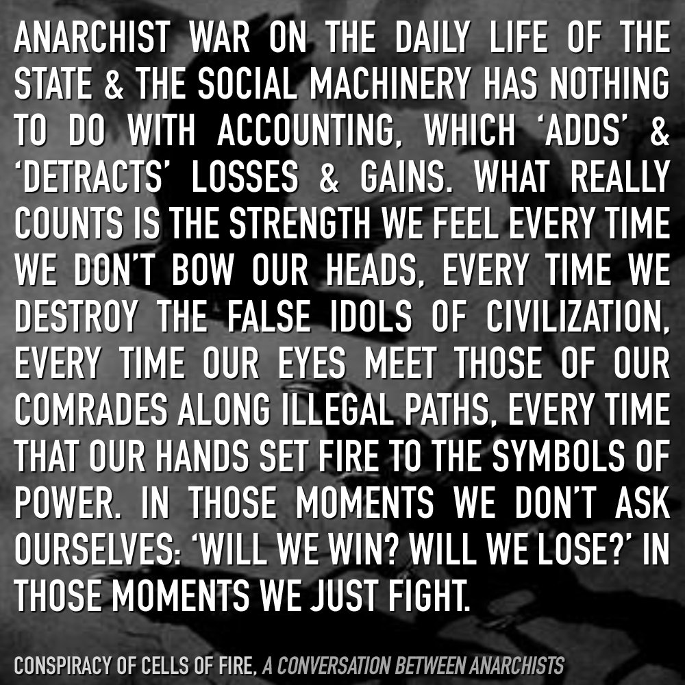 Who is an anarchist and what does he dream about