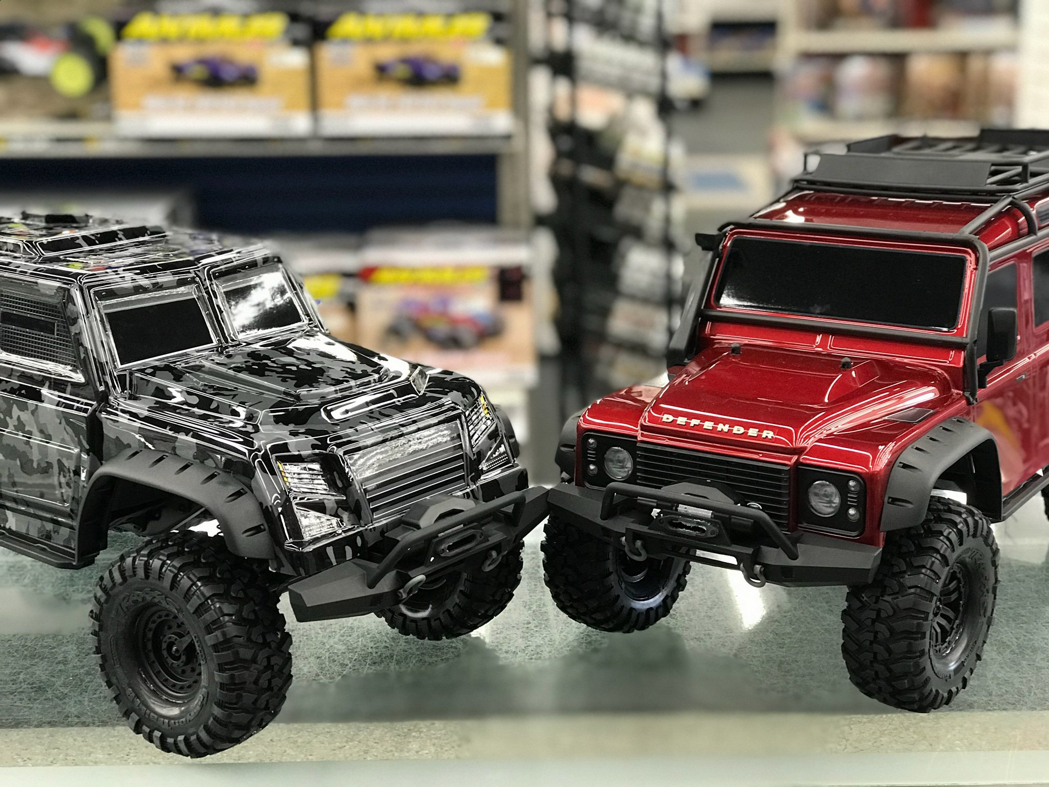 """Traxxas on Twitter """"Get up close and personal with the Traxxas TRX 4 Tactical Unit at a local hobby shop near you These unopened boxes won t last very"""