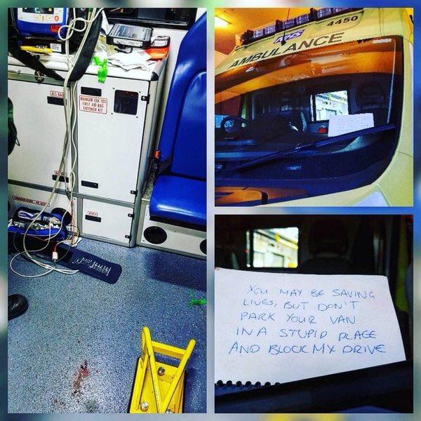 Jullie redden misschien levens, maar zet die ambulance niet voor mijn oprit