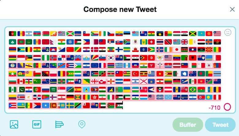 Not even #280characters can fit this big, beautiful world ✈️ 🚃⛵🚗🚲🌍