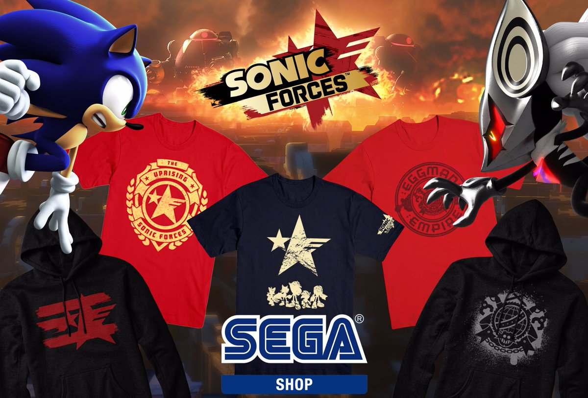 Sega On Twitter Join The Uprising Or Fight Alongside The Eggman Empire In This Exclusive Sonic Forces Collection Now Available On The Sega Shop Get These Items As Well As Other Sega