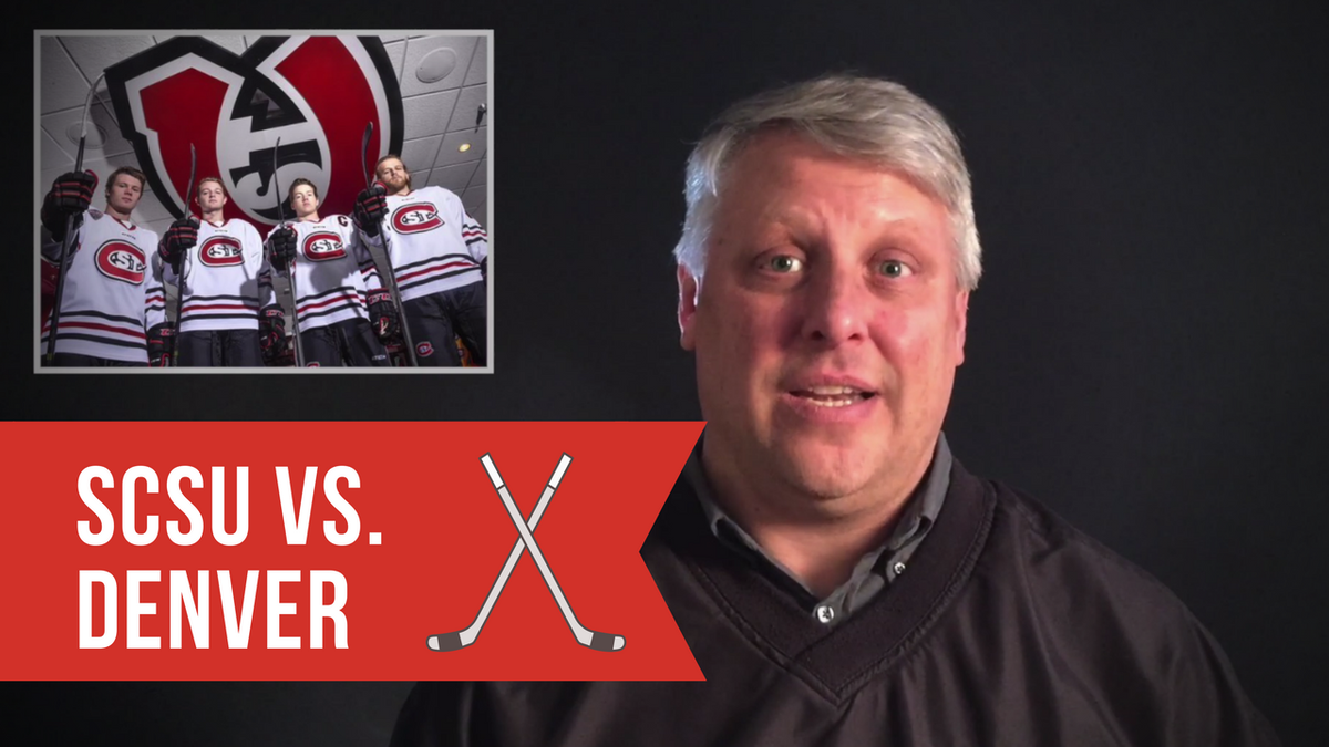 VIDEO: @MickHatten previews the upcoming @SCSUHUSKIES vs. Denver hockey game https://t.co/DyKeE5NGbH #collegehockey #hockey