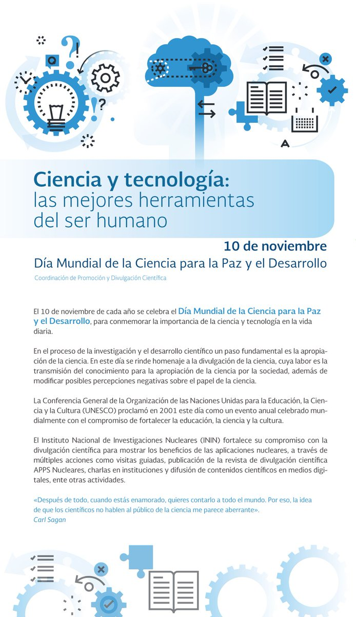 #DiaMundialdelaCiencia  #ININ #Science h...