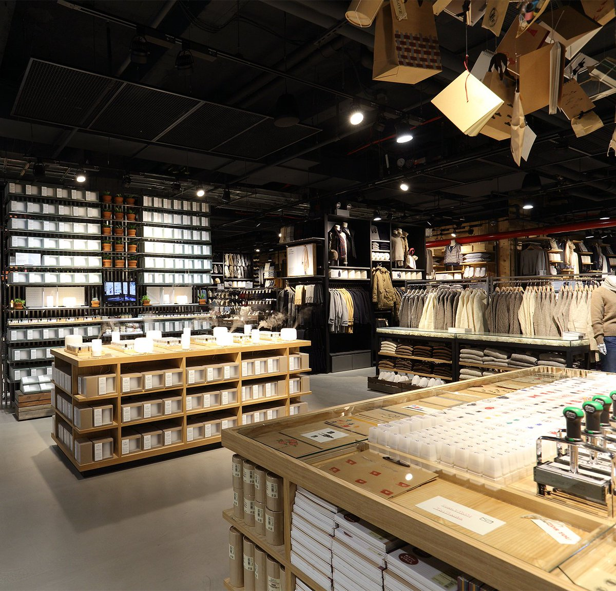 MUJI offers a wide variety of good quality items from stationery to household items and apparel.