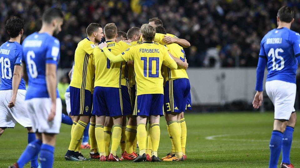 c38e7ea9459ac Veja os melhores momentos da vitória da Suécia sobre a Itália por 1 a 0  pelas