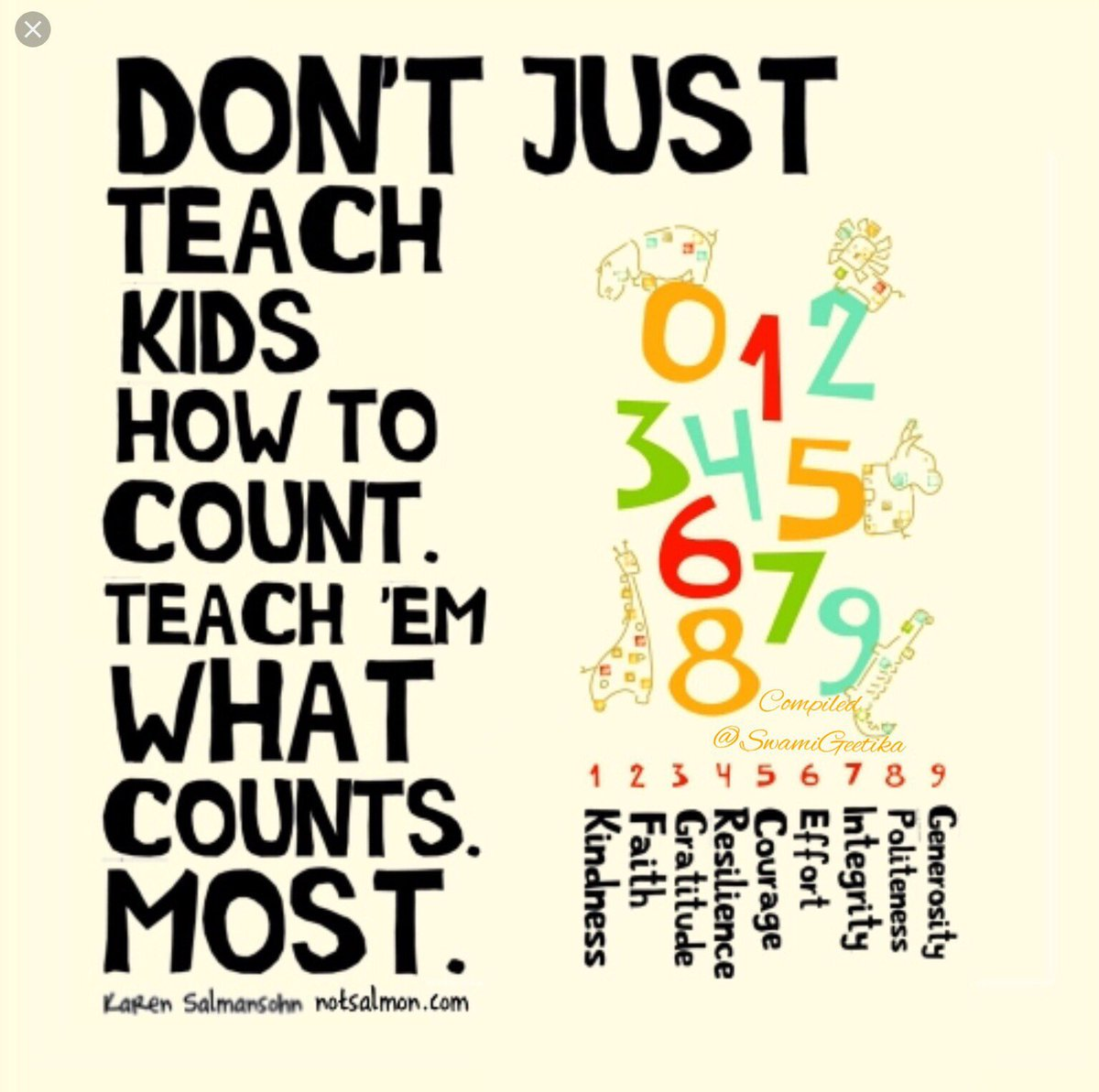 Dont just teach kids how to count, teach them what counts most.   #NationalEducationDay #SaturdayMotivation <br>http://pic.twitter.com/FiQjCJjIKk